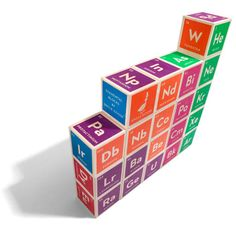 uncle goose periodic table of elements block set | nest