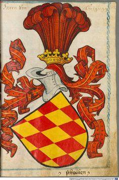 Scheibler'sches Wappenbuch Süddeutschland, um 1450 - 17. Jh. Cod.icon. 312 c  Folio 37