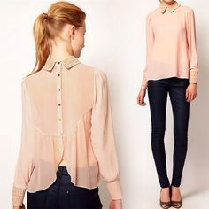 """""""Yay or Nay? Anybody love this Collared Chiffon Blouse @lookbookstore @lookbookstore? ONLY $29 to get it! Check out at www.lookbookstore.co #chiffon #pink…"""""""