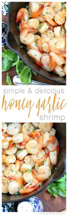 Easy Honey Garlic Shrimp Recipe #BuzznBloom #ad