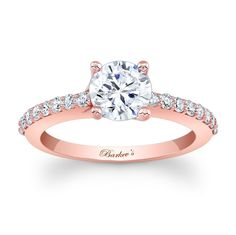rose gold engagement ring 7904lpw classic styling with a modern flair for the woman - Rose Gold Wedding Rings For Women