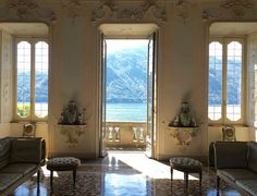 Owned by the same Italian noble family since the the Villa Sola Cabiati, now part of Grand Hotel Tremezzo on Lake Como, is filled with objects dripping with history Lake Como Hotels, Lake Como Villas, Italian Home, Italian Villa, Italian Mansion, French Villa, Comer See, Century Hotel, Italy House