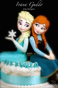 Frozen - Elsa- Anna cake by ivana guddo