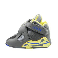 Newborn Baby Boy Nike Shoes | ... NIKE JORDAN 8 RETRO (GP) CRIB 305362-038 Baby Boys Shoes Infant Grey