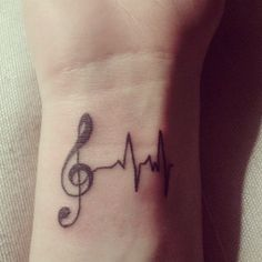 music tattoo<--ive always loved the idea of a musical heartbeat.. - maybe on the side of my hand