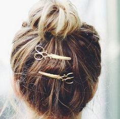 2016 or argent ciseaux épingles à cheveux ciseaux Clip pour cheveux Tiara Barrettes coiffe Vintage Simple tête bijoux best Friends cadeau