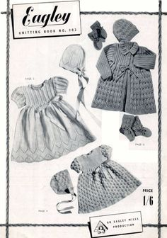 ON SALE Baby 3 ply Dress sets various garments 4 by avintagescot, $1.65