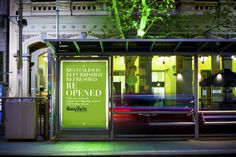 After 124 years, the Collins Street Henry Bucks store has been given a completely new look, feel and direction. The flagship store reopened in April renewed, refocussed, recreated, reinvigorated, rejuvenated, revitalised and refreshed!  Davidson helped guide the stylish city folk to the store with our pop-coloured tram stop posters running the length of Collins Street.