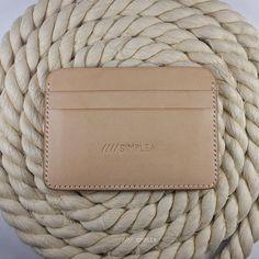 Card case Natural Hermann Oak Vegtan Leather