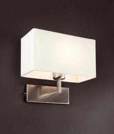 Lámpara de pared RODA níquel mate detalle