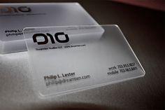 Transparent buisness cards