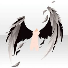 Wings Drawing, Drawing Base, Pelo Anime, Chibi Hair, Wings Design, Anime Poses, Drawing Reference Poses, Anime Hair, Drawing Clothes
