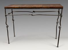 Console Table: Rob Caperell: Metal Console Table | Artful Home