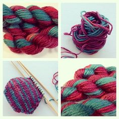 Mini Skein Lady Sybil all knitted up into the sweetest little hexipuff