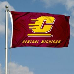 CMU Chippewas Double-Sided 3x5 Flag by College Flags and Banners Co.. $49.95. Officially Licensed by Central Michigan University. 3'x5' in Size with Sturdy Metal Grommets and Quad-Stitched Flyends. Double-Sided and Printed Logos are Readable Correctly on Both Sides. 3-Ply Polyester Material with Sewn-In Liner between Sides. Identical Flag as flown over the College Football Hall of Fame. Our CMU Chippewas Double-Sided 3x5 Flag is made of three-ply polyester and inc... Football Hall Of Fame, College Football, American Conference, Central Michigan University, Flags Of The World, Colleges, 4 Years, Mac