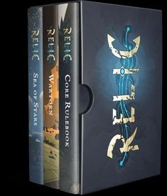 Relic three-book slipcase