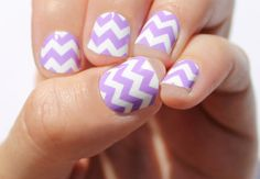 Lavender Chevron Nail Wraps by SoGloss on Etsy