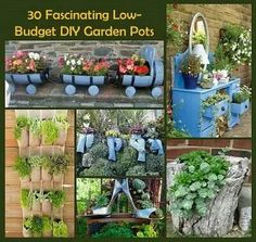 30 diy garden pots