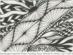 """Zentangle Inspired Artist Trading Card 