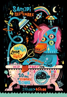 Illustration #7 by Seb NIARK1 FERAUT, via Behance