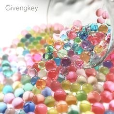 Colorful Floral Gel Pearl Balls for Vase Or Sensory Exploration Big Mo/'s Toys Big Mos Toys Water Beads