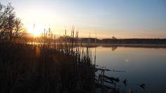 Morning on Dyje river, Brod nad Dyjí village, Czech republic