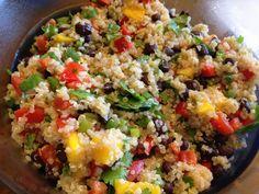 Mango and Black bean Quinoa.   *SO SO good! Especially in the summer!