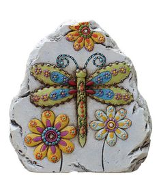 Take a look at this Dragonfly Garden Gem Stone by Transpac Imports on #zulily today!