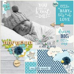 Baby Boy Diy Projects Scrapbook Layouts Ideas For 2019 <br> Baby Boy Scrapbook, Scrapbook Bebe, Album Scrapbook, Baby Scrapbook Pages, Birthday Scrapbook, Scrapbook Sketches, Travel Scrapbook, Digital Scrapbooking Layouts, Scrapbook Page Layouts