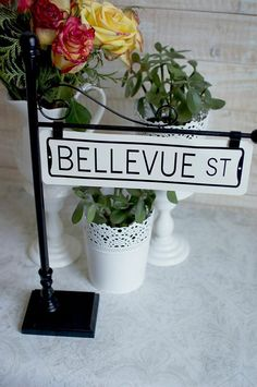 Street Sign Post Table Number Holder By Thestandshop On Etsy