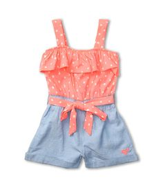 Roxy Kids - Summers Dream Romper (Toddler/Little Kids) (Aurora Dot) - Apparel - ShopStyle Girls' Onesies Little Girl Outfits, Little Girl Fashion, Toddler Fashion, Toddler Outfits, Kids Outfits, Kids Fashion, Manequin, Baby Kids Clothes, Kids Clothing