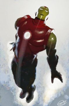 Iron man by Daniel Murray (Marvel comics) Hq Marvel, Marvel Comics Art, Marvel Comic Books, Marvel Characters, Comic Books Art, Comic Art, Book Art, Iron Avenger, Spiderman