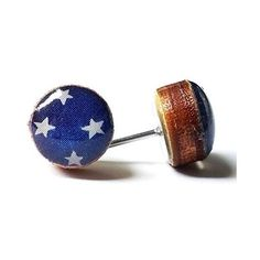 Patriotic dark blue with white stars wood stud earrings, 8mm, jewelry ❤ liked on Polyvore featuring jewelry, earrings, star earrings, wood stud earrings, dark blue stud earrings, dark blue earrings and stud earrings