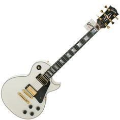 Gibson Les Paul Custom in Alpine White. There was a time when only Pavel liked white guitars. Now it's a band requirement.