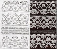 This is an interesting and nice stitch pattern: the Chevron Retro Stitch Wave Crochet pattern which I'm sure you guys would like to know how it is done. Crochet Boarders, Crochet Lace Edging, Crochet Motifs, Crochet Stitches Patterns, Crochet Diagram, Crochet Chart, Thread Crochet, Crochet Trim, Filet Crochet