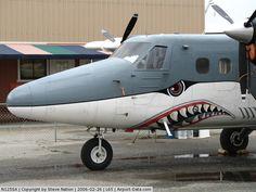 N125SA, 1968 De Havilland Canada DHC-6 Twin Otter C/N 104, Close-up of Sharkmouth