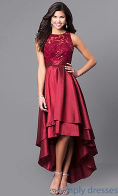 Lace Hi-Low Formal Dress