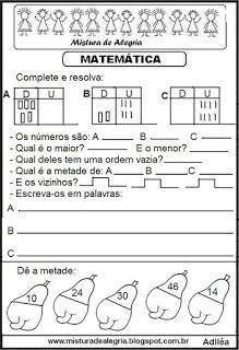 Matemática Math Equations, Education, Decimal, Alphabet, Math Worksheets, Fun Math Activities, Literacy Activities, Math Notebooks, Science