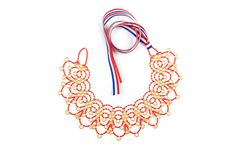 """Craaloosh necklace """"Ana"""" is made out of 2696 glass beads and it takes skillful woman about 12 hours to handcraft it."""