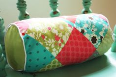 I love quilting. A little. So this beautiful bolster pillow is totally my speed.