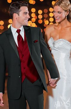 Imagini pentru black and red prom suits