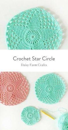 Free Pattern - Crochet Star Circle
