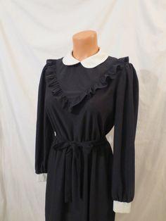 OOH LA LA French maid goth prairie steampunk dress Bobby's Girl black white sz 6 8
