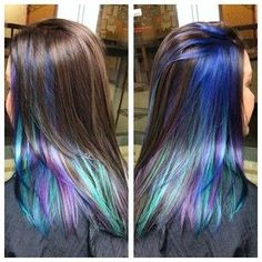 Wish I was cool enough to pull off the peacock hair colors