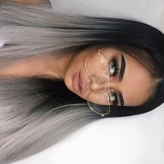 Image about beauty in Nails by halideboz on We Heart It Braided Hairstyles, Cool Hairstyles, Baddie Hairstyles, Bandana Hairstyles, African Hairstyles, Grey Ombre Hair, Medium Hair Styles, Long Hair Styles, Make Up Inspiration