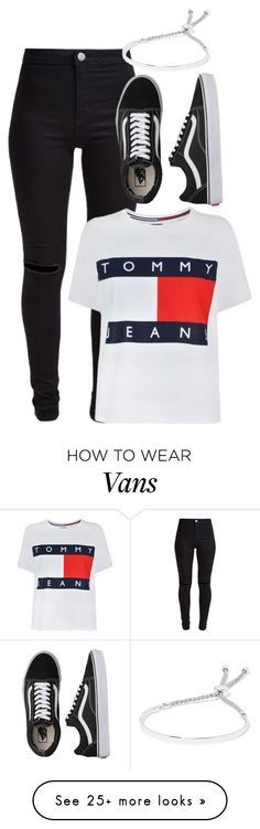 """""""Untitled #217"""" by nodifference on Polyvore featuring New Look, Tommy Hilfiger, Vans and Monica Vinader"""