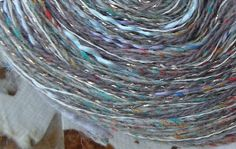 Yarn: gray lavender silk wool worsted 200 yds by LifesAnExpedition