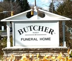 Questionable Funeral Home Names- Butcher Funeral Home Signs Of Life, Street Signs, Funny Signs, Just For Laughs, Laugh Out Loud, Funeral, The Funny, Memes, I Laughed