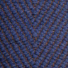 Vertical Herringbone, denim 0474 on the brown yarn Vandra Rugs Yarn Colors, Colours, Natural Linen, Scandinavian Design, Herringbone, Wool Felt, Bespoke, Denim, Rugs