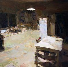 """Saatchi Online Artist: Carlos San Millan; Oil, Painting """"Kitchen"""""""